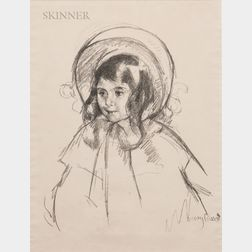 Mary Cassatt (American, 1844-1926)      Sara Wearing her Bonnet and Coat