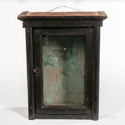 Black-painted Glazed Wall Box