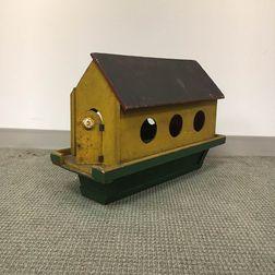 Painted Wood Noah's Ark Birdhouse