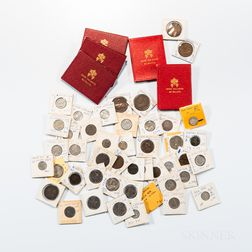 Group of Papal States and Vatican Coins