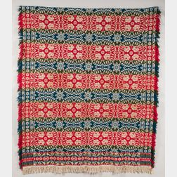 Three-color Jacquard Woven Wool Coverlet