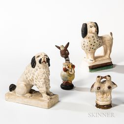 Four Chalkware Figures