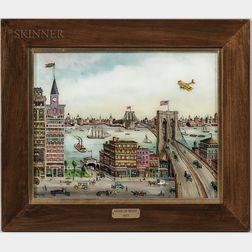 Milton Bond (American, 1918-2010)      Brooklyn Bridge, 1923