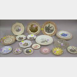 Twenty-five Children's Tableware Items