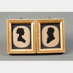 Pair of Silhouette Portraits