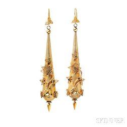 "Late Georgian Gold ""Torpedo"" Earrings"