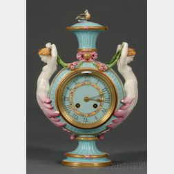 Wedgwood Majolica Mermaid Clock/Vase