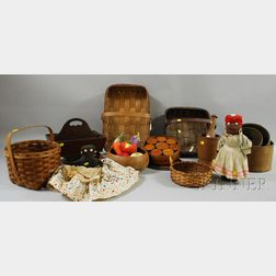 Group of Woodenware and Folk Items