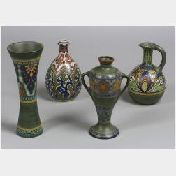 Four Gouda Pottery Pieces