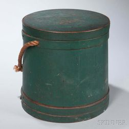 Green-painted Lidded Pail
