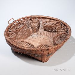 Splint Woven Indian Sewing Basket