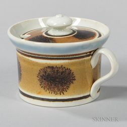 Mocha-decorated Pearlware Mustard Pot