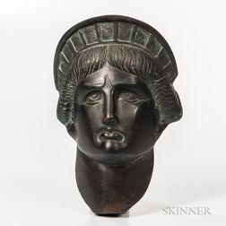 Cast Bronze Liberty Head