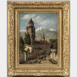 Enoch Wood Perry Jr. (American, 1831-1915)      Alpine Village
