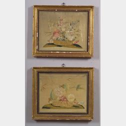 Pair of Framed Needlework Still Life Pictures