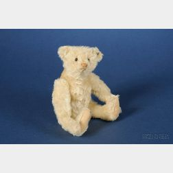 Small Steiff White Mohair Teddy Bear