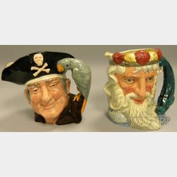 Two Large Royal Doulton Ceramic Character Jugs