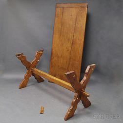 Oak Sawbuck Table
