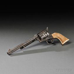 Engraved Nickel-plated Model 1873 Colt Single Action Revolver