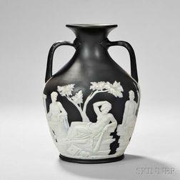 Wedgwood Solid Black Jasper Thomas Lovatt Portland Vase