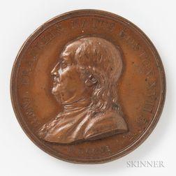 1786 Benjamin Franklin Natus Boston Bronze Medal