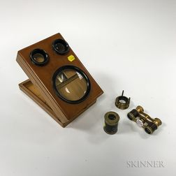Stereoviewer, a Pair of Binoculars, and Two Viewing Lenses.