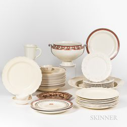 Approximately Sixty Pieces of Creamware