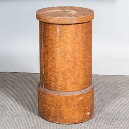 Paint-decorated Wooden Pedestal