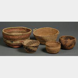 Five Western Baskets
