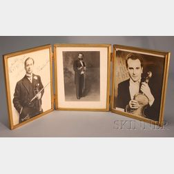 Three Framed Photographs of Violinists