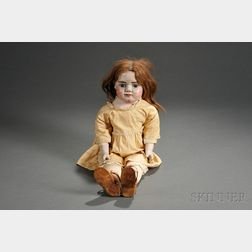 Carved Wooden and Cloth Doll