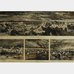 Framed Print Destruction of the Whaling Fleet in the Arctic Ocean