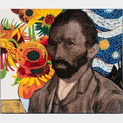 Steve Kaufman (American, 1960-2010)      Van Gogh