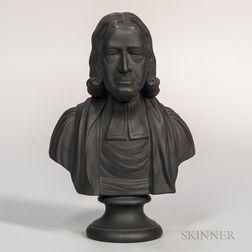 Wedgwood Black Basalt Bust of John Wesley