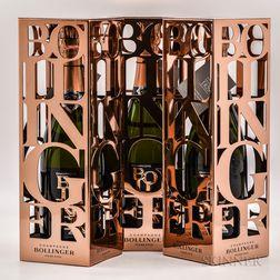 Bollinger Rose Brut (Limited Edition) 2006, 3 bottles (ind. pc)