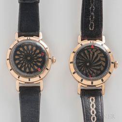 """Two Ernest Borel """"Kaleidoscope"""" Wristwatches"""