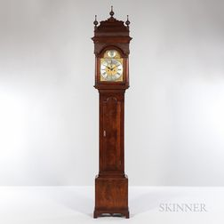 John Wood Figured Walnut Tall Clock
