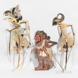 Group of Wayang Shadow Puppets