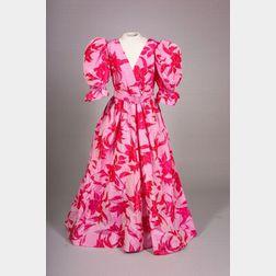 Givenchy Couture Fuchsia Silk Floral Taffeta Gown