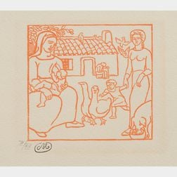 Aristide Maillol (French, 1861-1944)      Lot of Two Prints:  Grazing Sheep