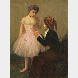 Louis Kronberg (American, 1872-1965)      Fixing Her Costume