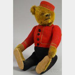 Schuco Yes/No Bellhop Teddy Bear