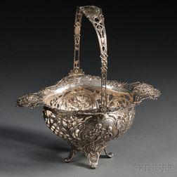 German Rococo-style .800 Silver Basket