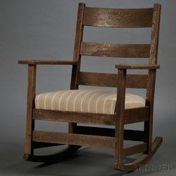 L & J.G. Stickley Oak Arts & Crafts Rocking Chair