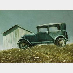 Albert Henry Schroder (American, 1929-2004)      The Famous Blue A   ('29 Ford)