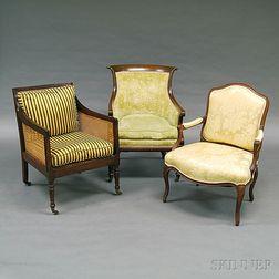 Three Continental Armchairs