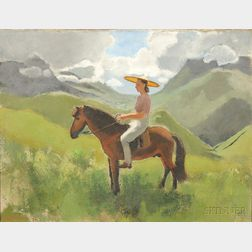 Joseph Inguimberty (1896-1971), Portrait of Alix Ayme on Horseback