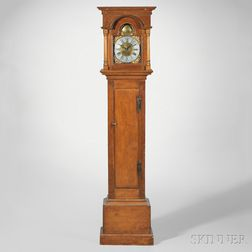 Aaron Smith Thirty-hour Pine Tall Clock