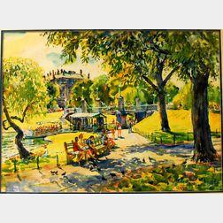 Charles Peter Demetropoulos (American, 1912-1976)      Boston Gardens