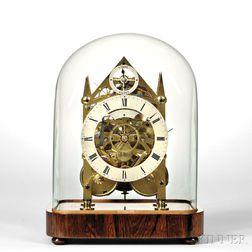 Miniature Hour-striking Fusee Skeleton Clock